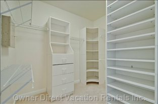 One of Two Walk in Closets in Master Bedroom.