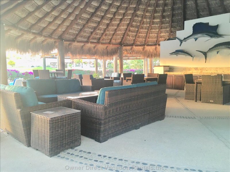 Pool Area- is  Large, has Private Seating Areas and Wifi