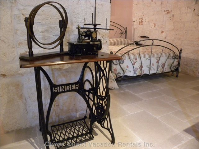 Living Room - Authentic 1800 Century Sewing Machine