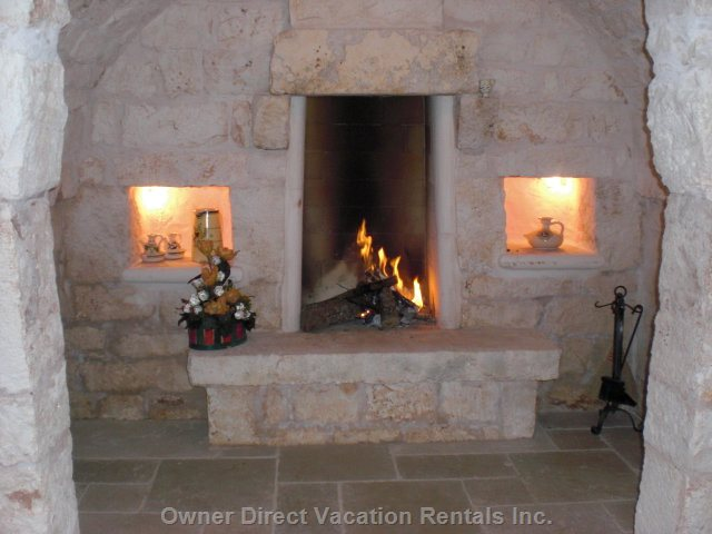 Alcove with Fireplace