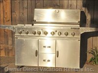 Grand Turbo Bbq with 5 Burners, 2 Side Burners, Smoker Tray, and Rotisserie