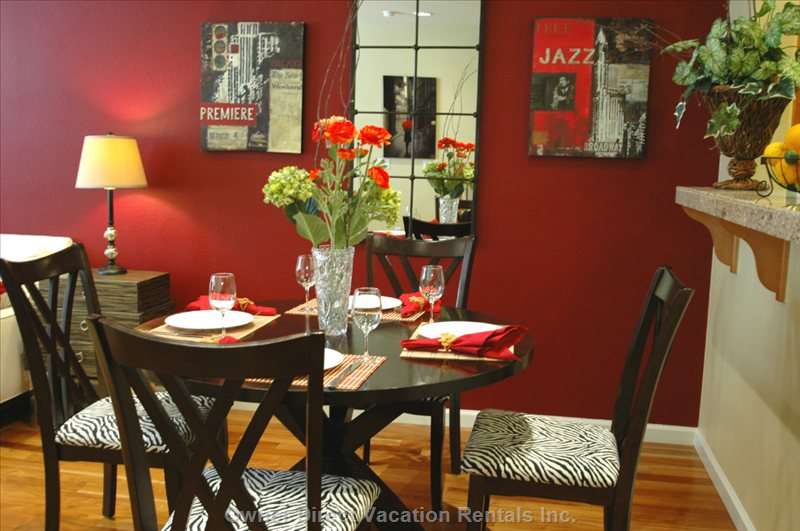 Jazz Theme Dining Area.