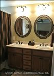 Master Bath with Dual Sinks and Large Vanity.