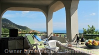 Covered Balcony - with Bbq & Patio Furniture Looking Towards Monte Poro.