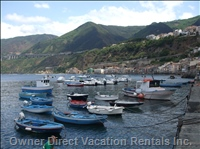 Chianalea Scilla - the Harbour and Fishermen'S Houses at the Waters Edge in Chianalea, Scilla.