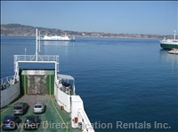 Messina Straits at V. San Giovanni Ferry