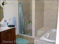 Master Bathroom Custom Walk in Shower and Jacuzzi Tub