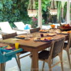 Dining Area, Large Dining Teak Table. 2 High Chairs Available.