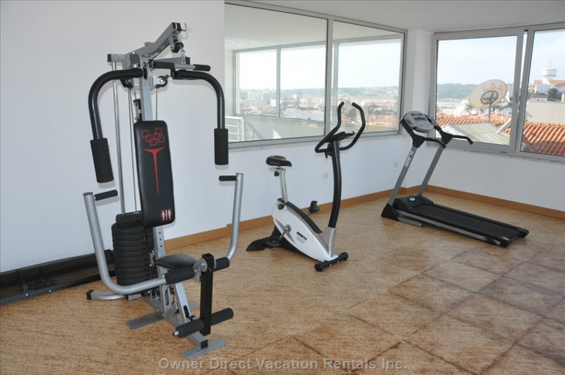 Fitness Room on the Roof Terrace