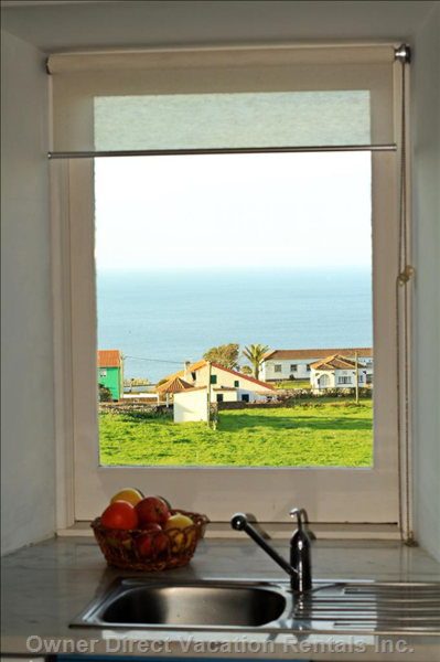 View over the Sea from the Kitchen