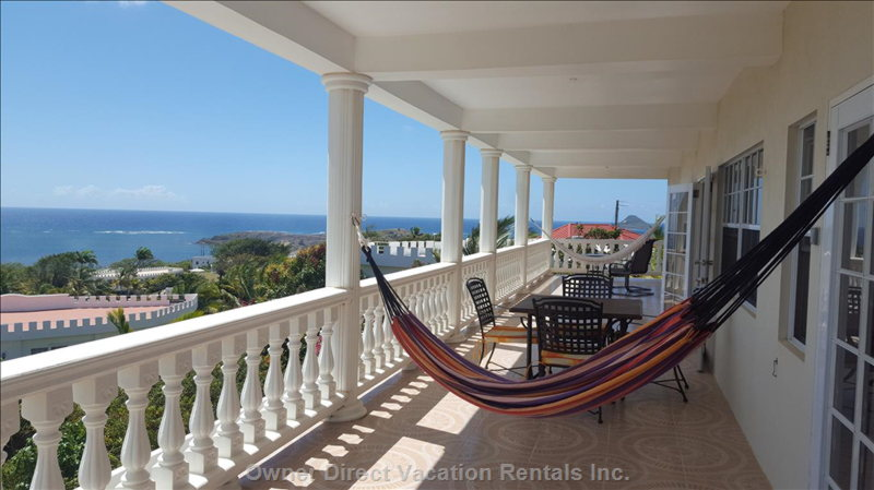 Second Floor Balcony Overlooking Pool and with Great Views
