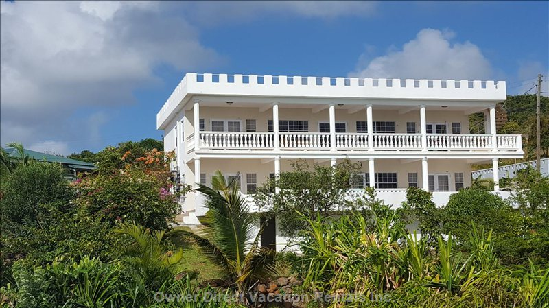 The Villa, on a Hill Overlooking the Atlantic