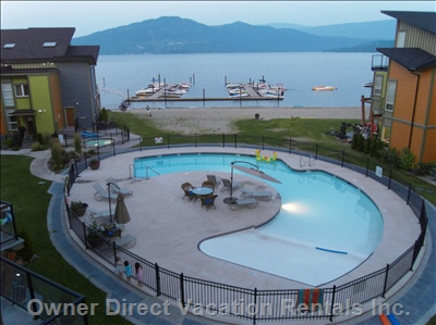 Beautiful Outdoor Pool - Pool is Overlooking Stunning Lake Views of Copper Island and beyond