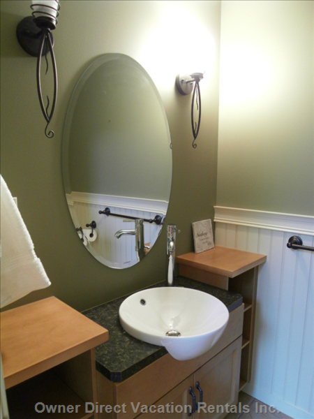 Powder Room on Main Floor - Very Modern Fixtures