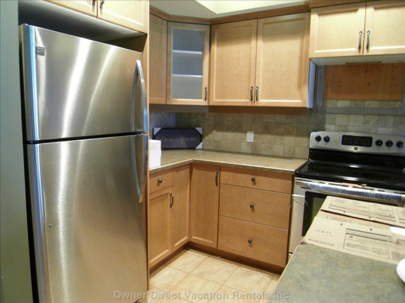 Brand New Appliances - Brand New Stainless Steel Appliances, Full Size Fridge, Stove & Oven, Microwave Oven and Dishwasher.