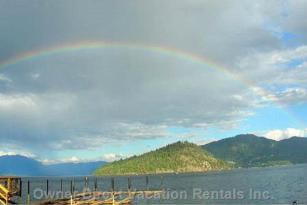 Rainbow over Copper Island