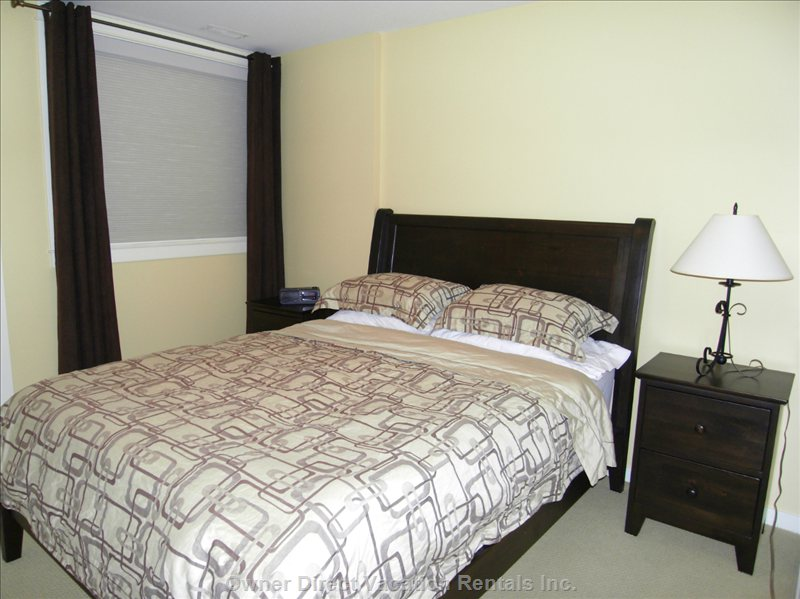 Full Queen Size Bed for this Additional Bedroom on Main Floor