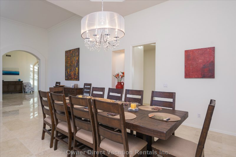 Formal Dining Room, 14 Total Chairs