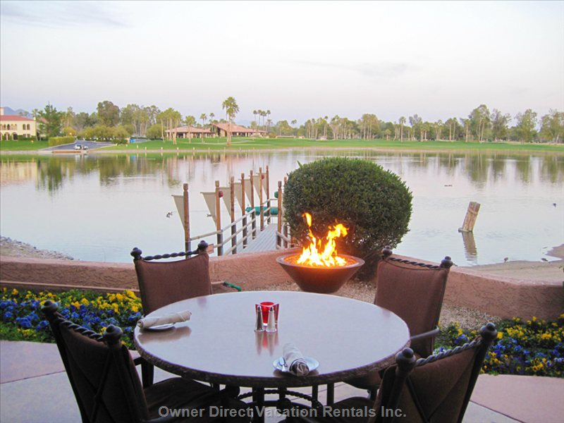 Resort Lakefront Dining with Spectacular Sunsets
