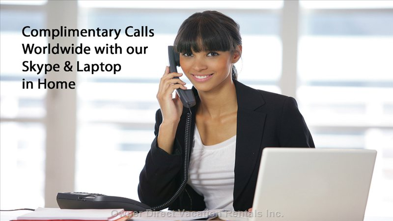 Complimentary Calls Worldwide with Skype & Laptop