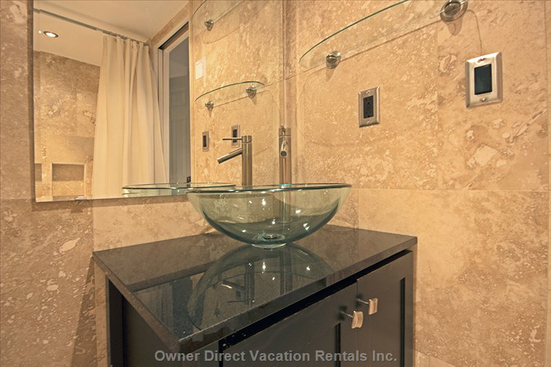 Bathroom Travertine Throughout