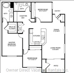 Floor Plan of our Condo - Excellent Layout.