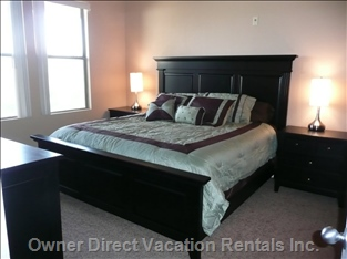 Brand New King Sized (New) Bedroom Set in the Master - Comes with a Brand New 32 Inch Flat Screen TV