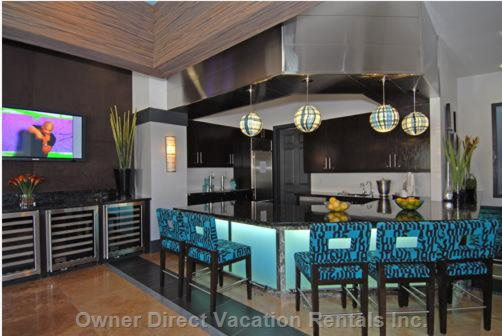 Picture #3 - Part of the Great Room in the Main Clubhouse - the Bar with a Locked Fridge for your WI