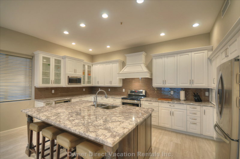 Stainless Steel Appliances and the Wine Cooler