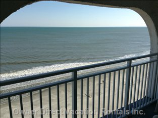 Awesome Ocean Front Condo - View from Balcony