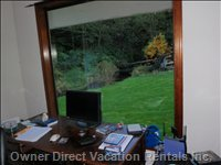 Master Bedroom Office - Office is Complete with an Incredible View and a DVD Collection with over 1000 Movies.