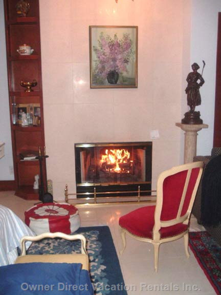 Honeymoon Suite Fireplace Area