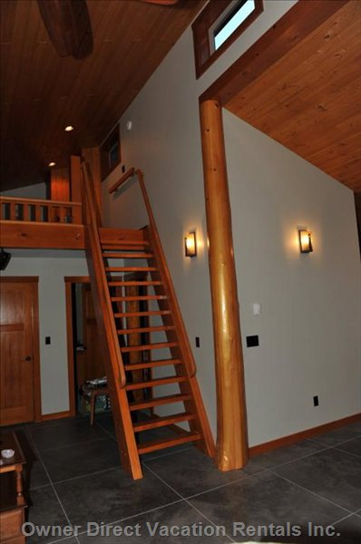 Hand Built Stairway to the Loft