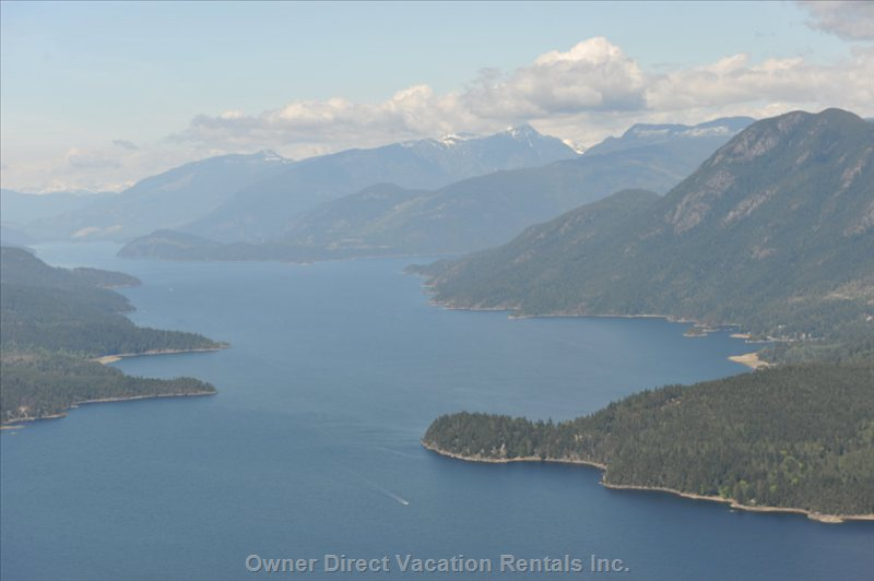 View of Sechelt Inlet and Tuwanek from the Air