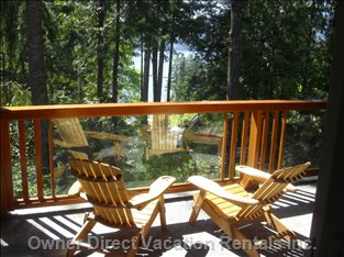 Large, Covered Yet Sunny Deck