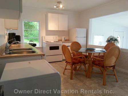 Fully Equipped Kitchen with Microwave, Coffee Maker, Dishwasher, Washer/Dryer.