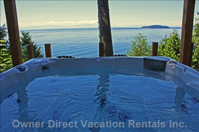Hot Tub with Panoramic Ocean Views