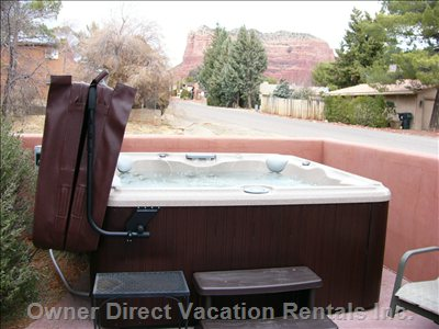 6 Person Hot Tub on Back Patio