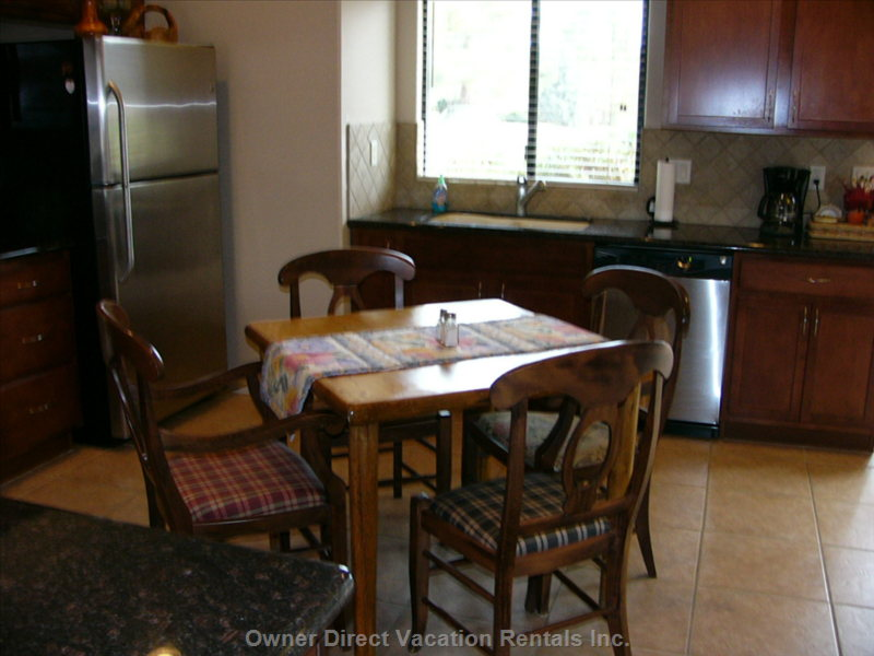 Kitchen with Dining Table and 4 Chairs