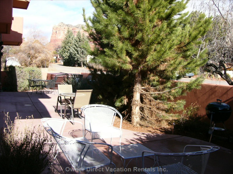 Patio with Red Rock Views