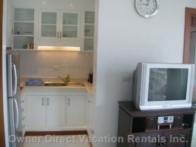 Kitchen  - with TV and DVD Player