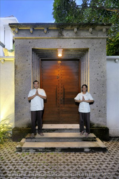 Our Wonderful Staff - Wayan and Putu