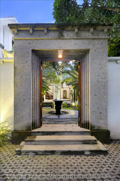 Entrance to Villa Rene