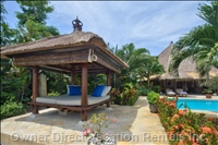 View of Bale Bengong at the Beach Front, Relax Here to Watch the Bali Sea and Bali Sunsets.
