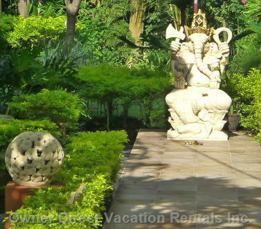 Ganesha at the Entrance to your Villa