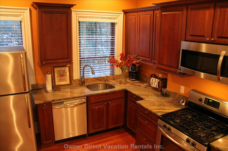Fully Applianced Kitchen with all Utensils