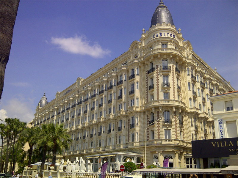 The Carlton Hotel Cannes - one of several 5 Star Hotels in Cannes - Only a Short Distance Away from our Apartment on Foot.