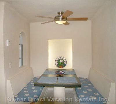Large Dinette, Quiet Ceiling Fan, Ample Seating for 6