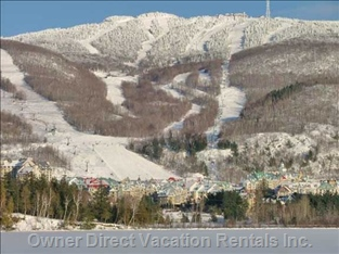 View of Tremblant Resort from across Lake Tremblant