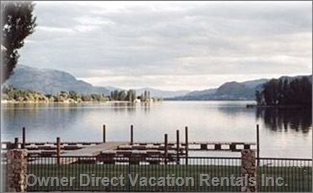 View of Osoyoos Lake and Private Resort Dock
